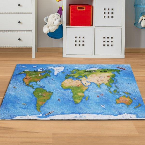 Spielmatte Weltkarte 150 x 100 cm