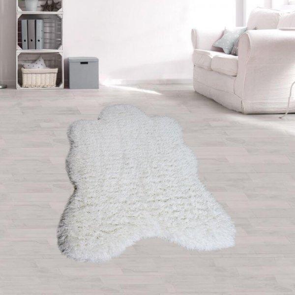 Kunstfell Teppich Weiß