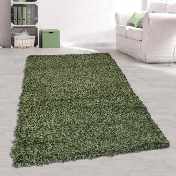 Jugendzimmer Teppich Langflor Grün