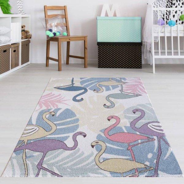 Flamingo Teppich Pastelltöne