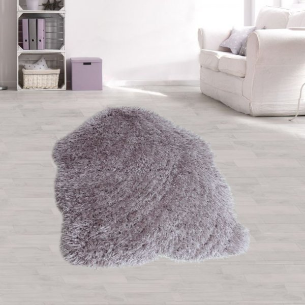 Jugend Teppich Felloptik Lila