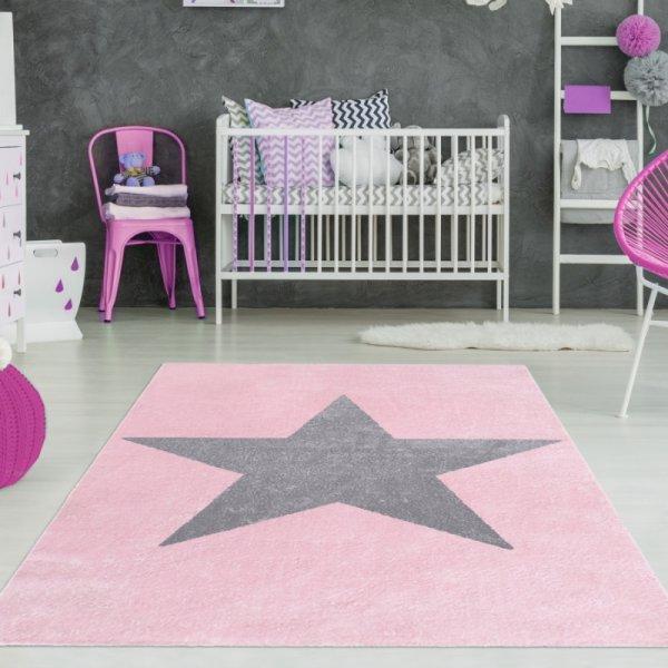 Teppich mit Stern Rosa