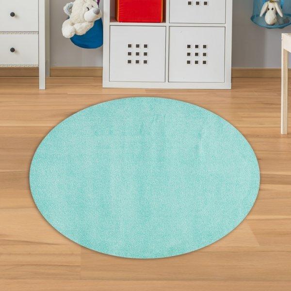 Kinderteppich Rund Mint