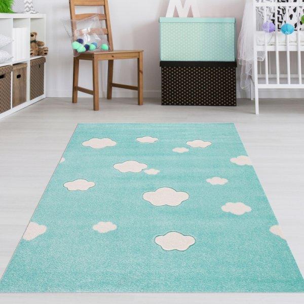 Baby Teppich Wolken Mint