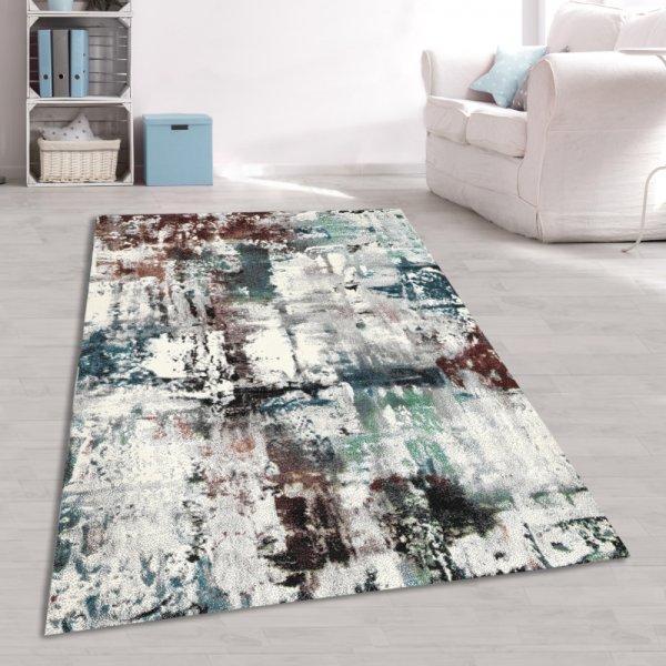 Designer Teppich Jugendzimmer Abstrakt Multicolor