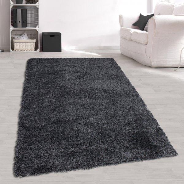 Jugendzimmer Teppich Grau Langflor