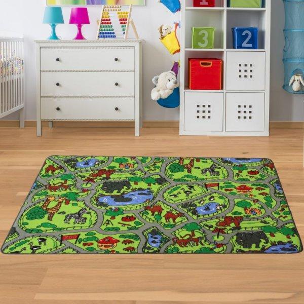 Spielteppich Zoo Tiere