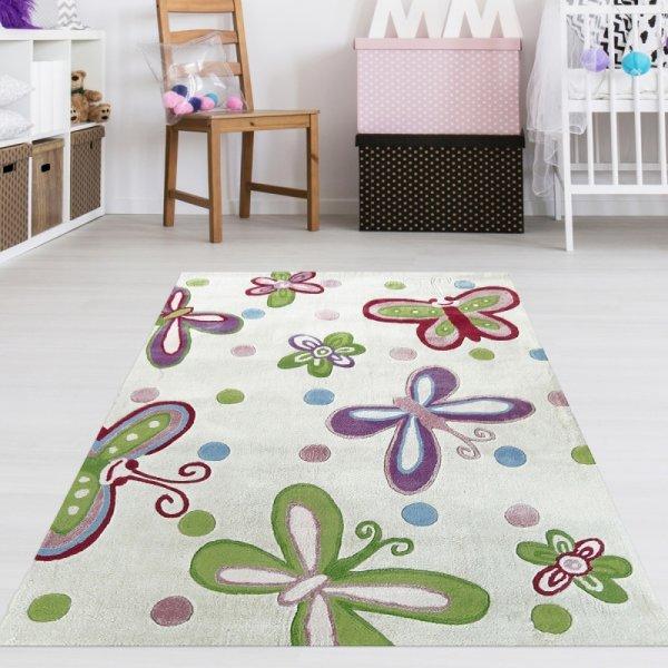 Teppich Schmetterlinge Multicolour