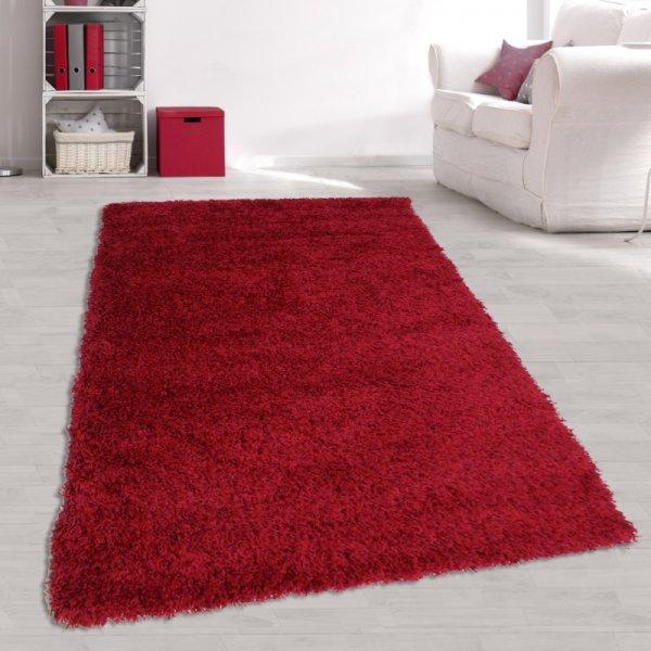 Jugend Teppich Langflor Rot