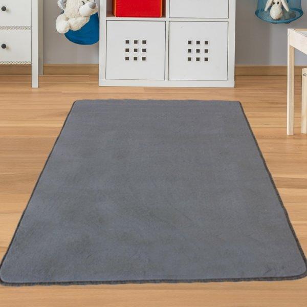 Kinderteppich Grau
