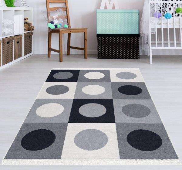 Waschbarer Teppich Piatto TRAFFIC grau/schwarz/weiß