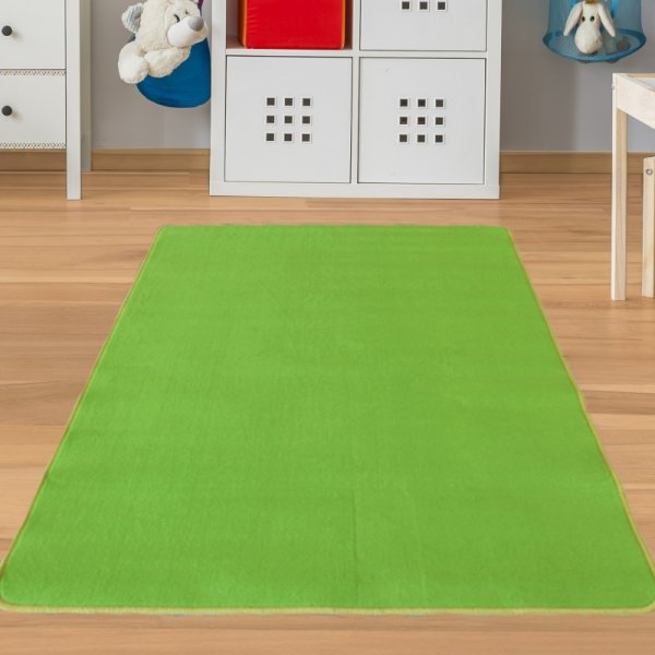 Kinderteppich Grün