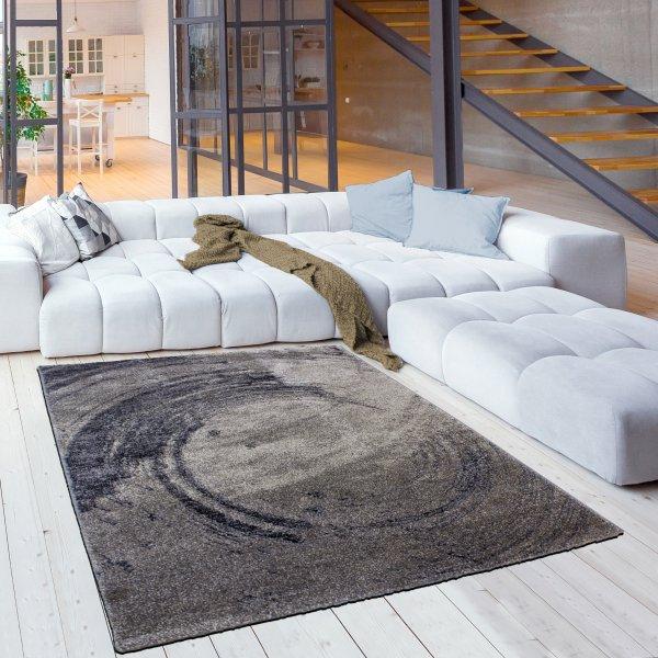 Designer Jugend Teppich Naturmuster Braun Beige