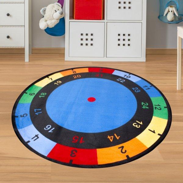 Teppich Uhr - Spielteppich Uhrzeit
