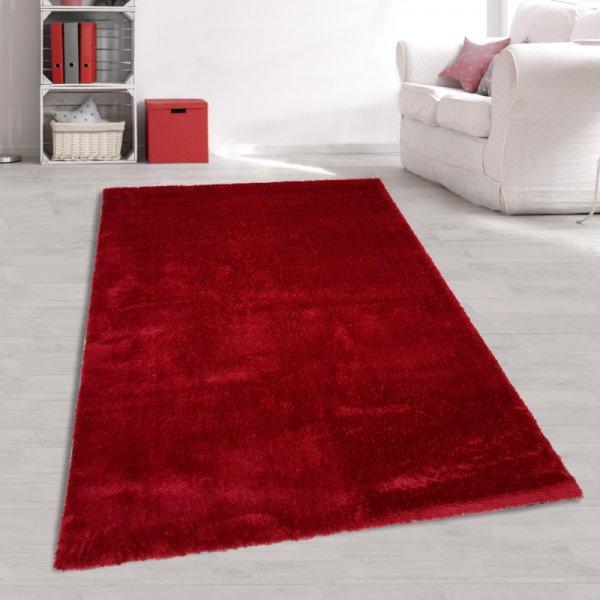 Hochflor Teppich Rot