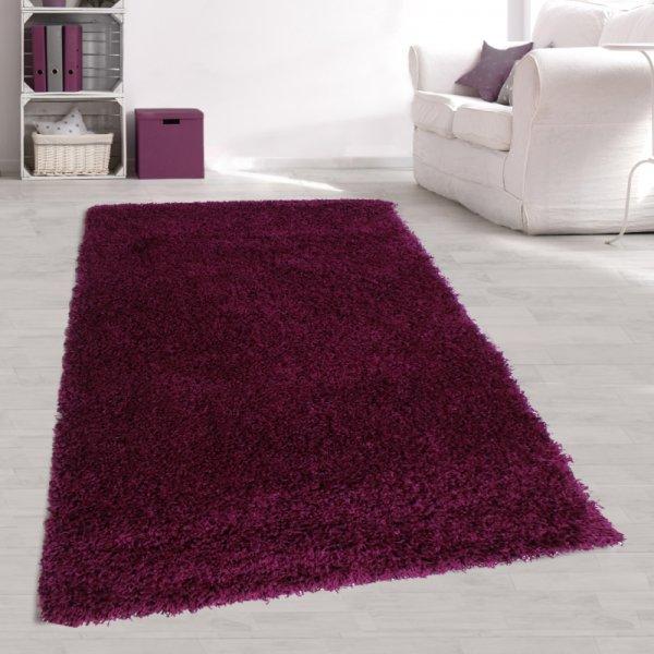 Jugendzimmer Teppich Lila Langflor