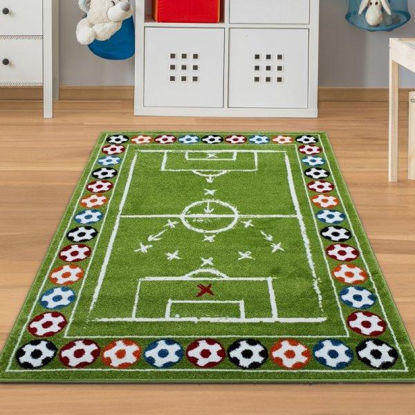 Teppich mit Fußballfeld