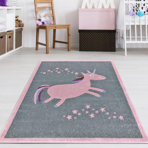 Teppich mit Rosa Einhorn