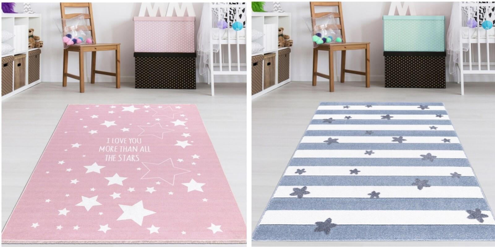Teppich4Kids - Teppich Jungen und Mädchen Farbe Pastel