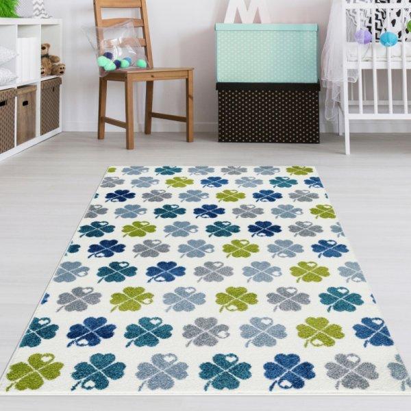 Kinderzimmer Teppich Kleeblatt Multicolor