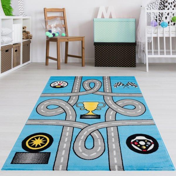 Spielteppich Blau Straßen Pokal
