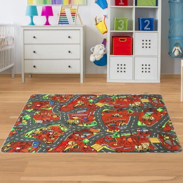Kinder Spielteppich Baustelle