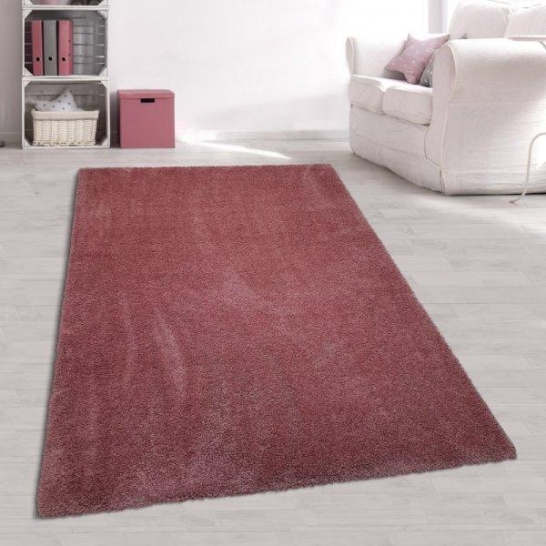 Jugendzimmer Teppich Hochflor Rosé
