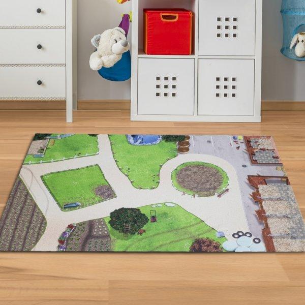 Spielmatte Bauernhof 150 x 100 cm