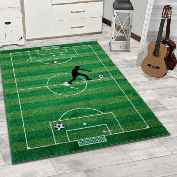 Fussball Teppich Mit Spielfeld