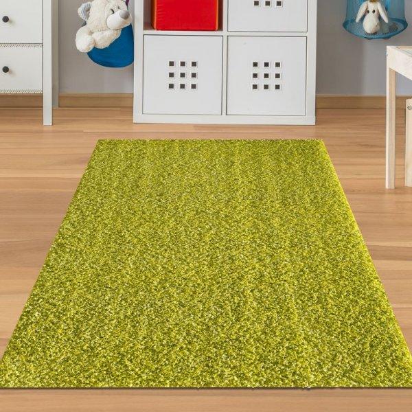 Kinderteppich Hochflor Hellgrün
