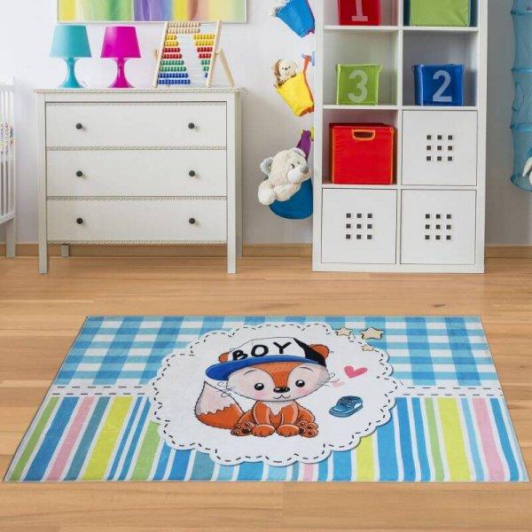 Jungen Baby Teppich Fuchs Waschbar & Rutschfest