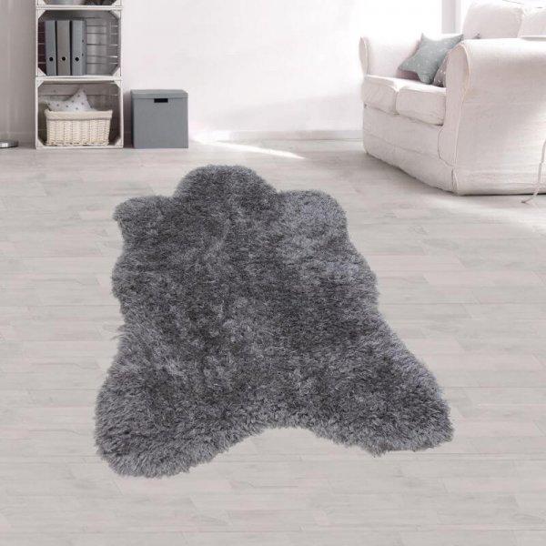 Kunstfell Teppich anthrazit