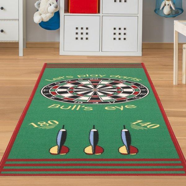 Dart Teppich mit Abstand Grün