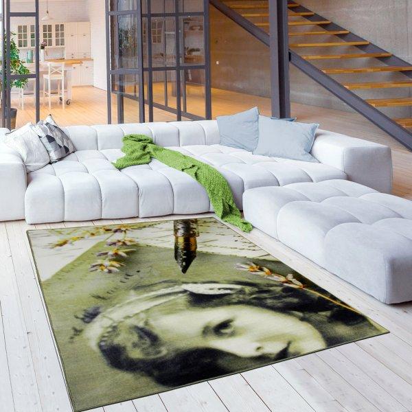 Jugendteppich 160 x 230 cm Kunst Dame