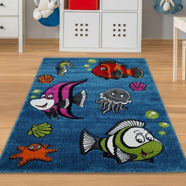 Kinderteppich Fische & Meerestiere