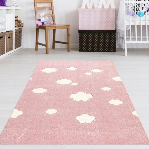 Teppich mit Wolken Rosa