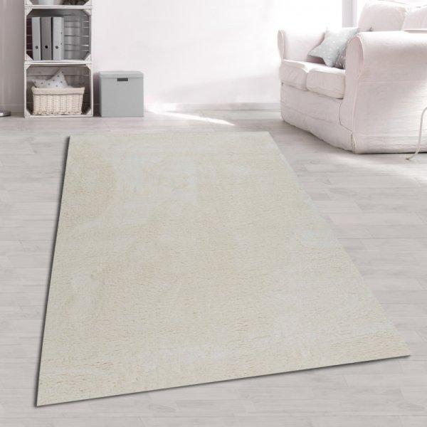 Jugend Teppich Weiß Uni