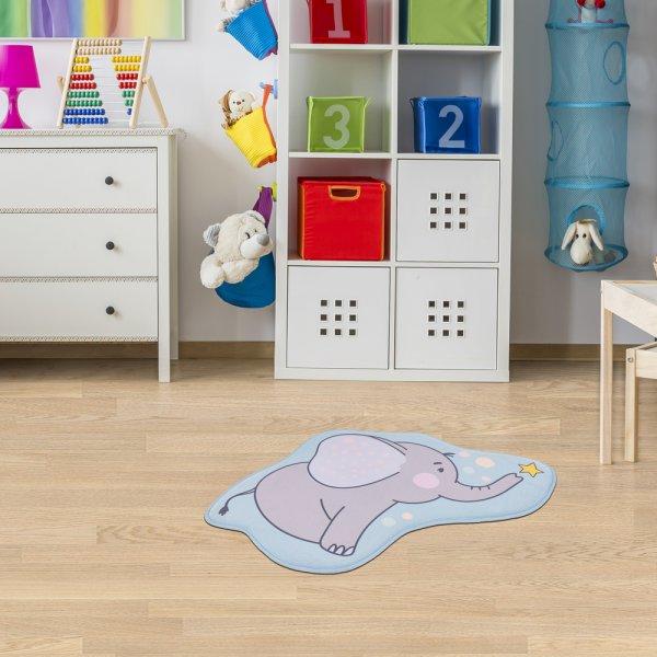 Kinderteppich Elefant 65x60 cm