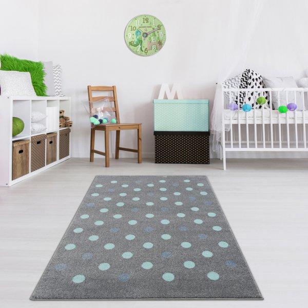 Teppich für Kinderzimmer Silber Grau