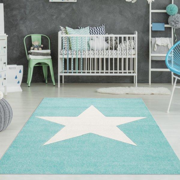 Teppich mit Stern Mint