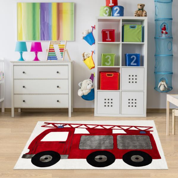 Kinderteppich Feuerwehrauto