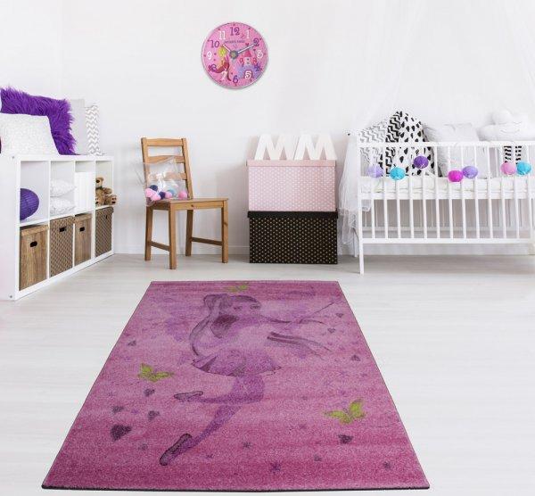 Kinderteppich 160 x 230 cm Fee Lila Pink