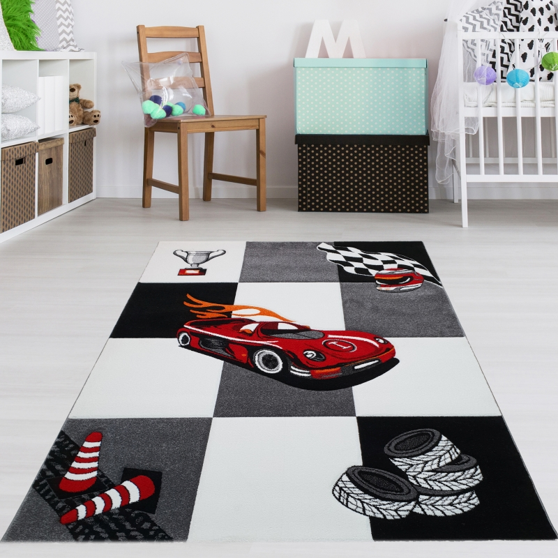 kinderteppich auto teppich mit stra e teppich4kids. Black Bedroom Furniture Sets. Home Design Ideas