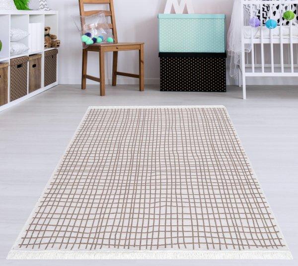 Waschbarer Teppich Piatto DOLCHE natur/weiß