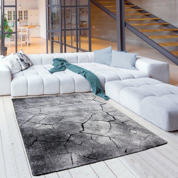 Jugendzimmer Designer Teppich Naturoptik grau