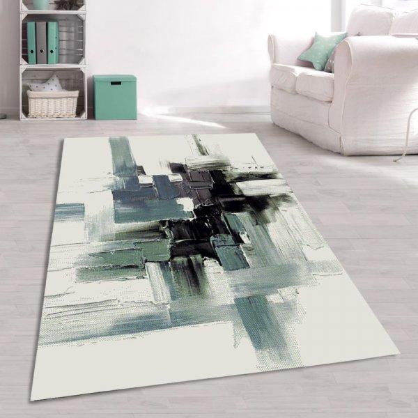 Designer Teppich Aquarell Weiß