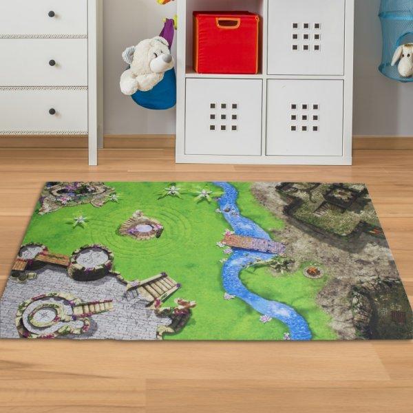 Fantasy Spielmatte Ritter & Elfen 150 x 100 cm
